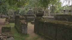 Ancient  ruins in Ho Chi Minh City, North Vietnam Stock Footage