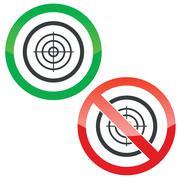 Aim permission signs - stock illustration