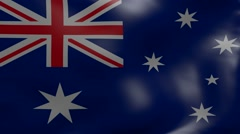 australia strong wind flag - stock footage