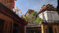 The Old Town Of Dukezong Zhongdian Shangri-La China Stock Footage