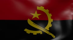 angola strong wind flag - stock footage