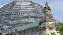 Reichstag building's glass dome, Berlin Stock Footage