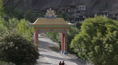 Gate to Hemis,Hemis,Ladakh,India Stock Footage