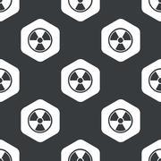 Black hexagon hazard pattern Stock Illustration