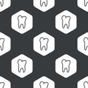 Stock Illustration of Black hexagon tooth pattern