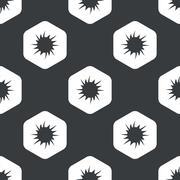 Black hexagon starburst pattern Stock Illustration