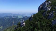 Establishing shot Mountain Beautiful nature Drone shot in 4K ULTRA HD Stock Footage