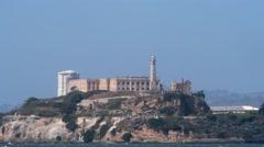 Alcatraz Island in San Francisco, California, USA Stock Footage