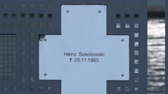 Heinz Sokolowski's tombstone in Berlin Stock Footage