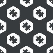Black hexagon puzzle pattern Stock Illustration