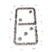 Stock Illustration of group  people  shape  domino