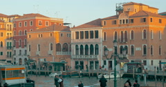 View of Venice, city with canals and vintage architecture Stock Footage