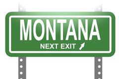 Montana green sign board isolated - stock illustration