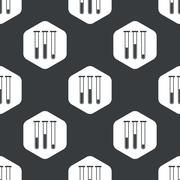 Black hexagon test-tubes pattern - stock illustration