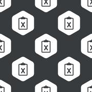 Black hexagon negative result pattern - stock illustration
