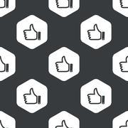 Stock Illustration of Black hexagon like pattern