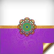 Stock Illustration of violet greeting card for indian festival sisters and brothers