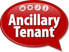Ancillary tenant Business term speech bubble illustration Stock Illustration