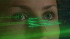 Futuristic Technology. Virtual Code Hologram Stock Footage