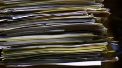 Documents in the archive - stock footage