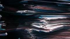 Unsorted documents in the wardrobe of an old archive Stock Footage