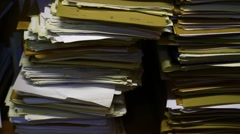 Old documentation waiting in the archive Stock Footage