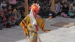 Masked dancers at Hemis festival,Hemis,Ladakh,India Stock Footage