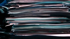 Documents, papers, files in the archive close up Stock Footage