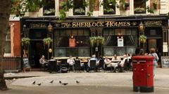 Sherlock Holmes pub, London Stock Footage