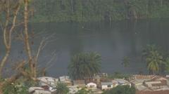 Ghana Volta river tele 4K Stock Footage
