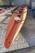 Racing rowing boat stern Stock Photos
