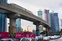 Kuala Lumpur rush hour Stock Photos