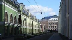 To St Petersburg. Seating yard, Perinnaya line Stock Footage