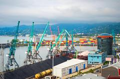 Batumi commercial port, Georgia - stock photo