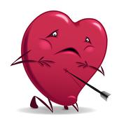 Valentines wounded heart. Stock Illustration