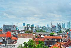 Jakarta skyline, Indonesia Stock Photos