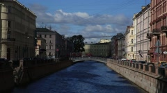 The Griboyedov canal, St. Petersburg, Russia Stock Footage