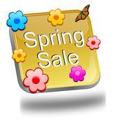 Spring sale button Kuvituskuvat