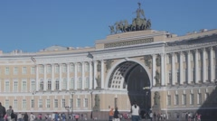 View of the General Staff Building (Saint Petersburg) Stock Footage