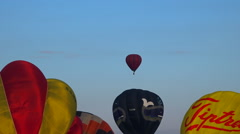 Flying hot air balloons 2  - Balloon moves down - Zoom in Stock Footage
