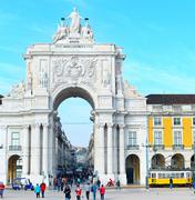 Rua Augusta Arch, Lisbon Stock Photos