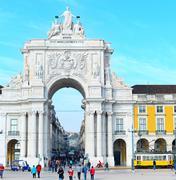 Rua Augusta Arch, Lisbon - stock photo