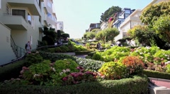The Lombard Street in San Francisco, USA - stock footage