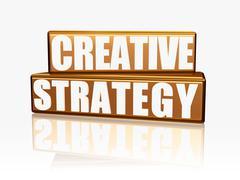 Creative strategy - golden blocks Stock Illustration