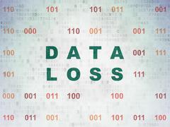 Stock Illustration of Information concept: Data Loss on Digital Paper background