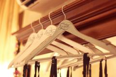 Personalized hangers for groom and groomsmen - stock photo
