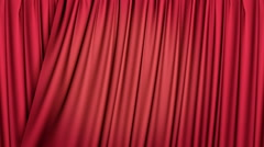3d red curtains opening Stock Footage