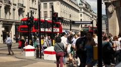Oxford Circus, London - stock footage