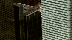 Aerial London - HSBC Building flypast in Canary Wharf Stock Footage