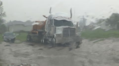 Torrential deluge of rain in severe thunderstorm Stock Footage